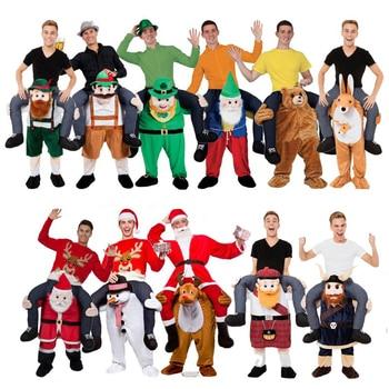 Novedad paseo en Me disfraces de mascota llevar de vuelta divertido Animal pantalones Oktoberfest Halloween fiesta Cosplay ropa caballo montar Juguetes