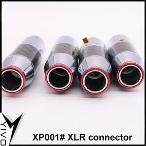 Image 3 - 2 pairs/4pairs female male 3 pins Carbon Fiber Brass plated rhodium Gold XLR plug connector