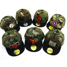 15 colors Spiderman superman Child embroidery Baseball Cap kids Boy Girl Hip Hop