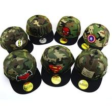 15 colors Spiderman superman Child embroidery Baseball Cap k