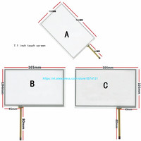 7.1 Inch Touch Screen Voor AT070TN83 V.1 AT070TN82 AT070TN84 Touch Panel Digitizer Glas 164*103 165*104