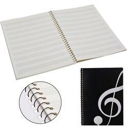 100 páginas em branco música pontuação manuscrito livro escrita stave notebook teclado piano preto notebook a4 50 folhas 100 páginas