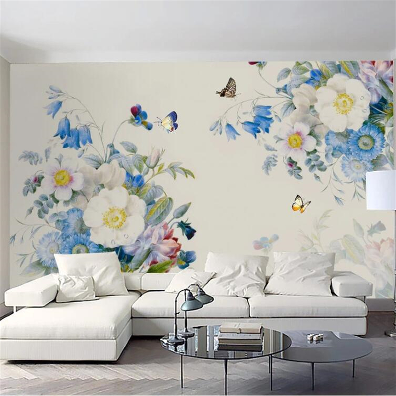 Custom wallpaper 3D stereo photo mural hand-painted vintage rose TV background bedroom wall papers home decor