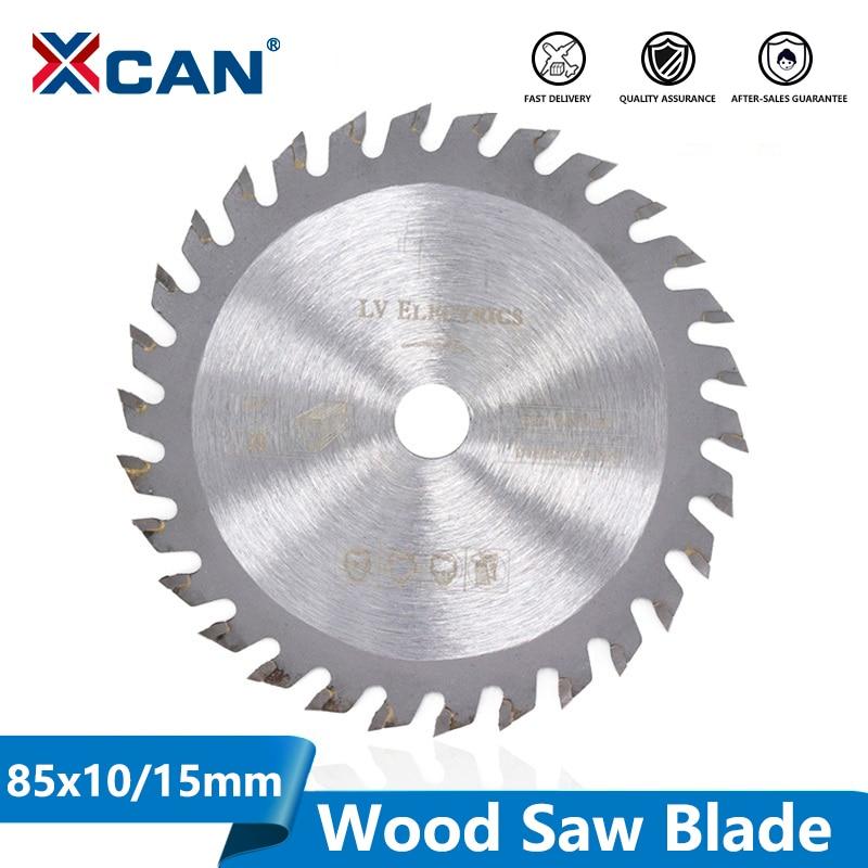 XCAN 1pc 85x10/15mm 24T 30T 36T High Quality Mini Circular Saw Blade Wood Cutting Blade Carbide Tipped Cutting Disc