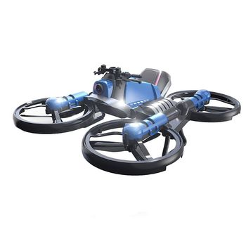 H6 2 in 1 Folding RC Drone and Motorcycle Vehicle 0.3MP Camera WIFI Aircraft