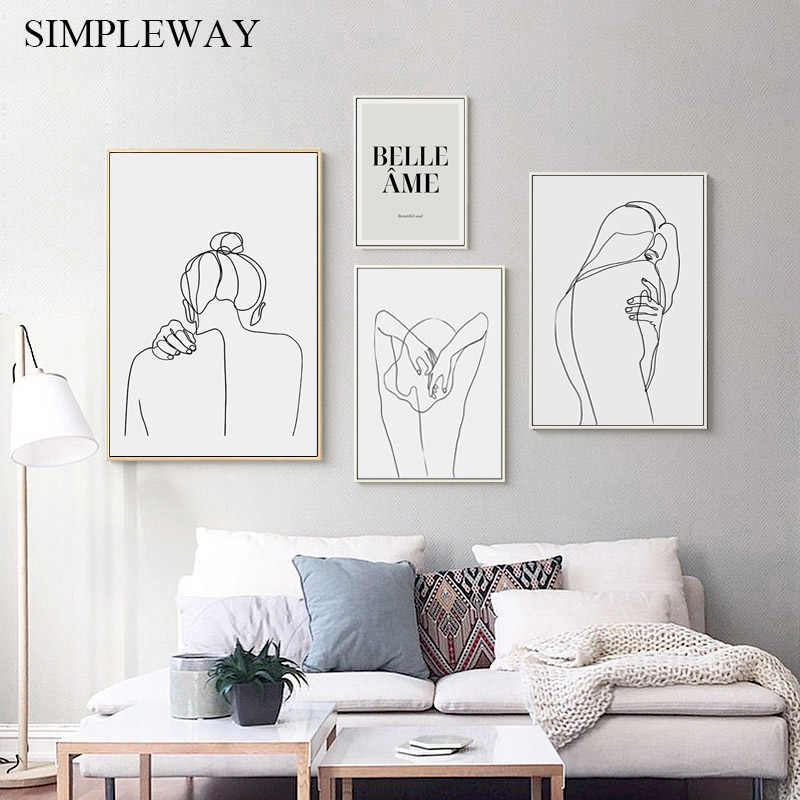 Matisse Art Abstract Painting Line Drawing Woman Minimalist Canvas Wall Poster Print Decorative Picture Modern Home Decoration