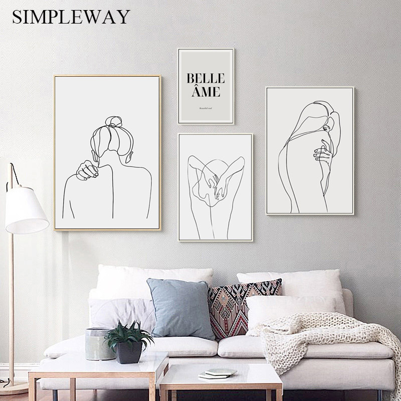 Matisse Affiche Murale Avec Dessin Sur Toile Art Abstrait Decoration Pour Maison Moderne Aliexpress