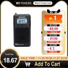 Retekess TR103 Mini Radio de poche Portable FM/MW/Radio à ondes courtes réglage numérique 9/10Khz lecteur de musique MP3 batterie Rechargeable