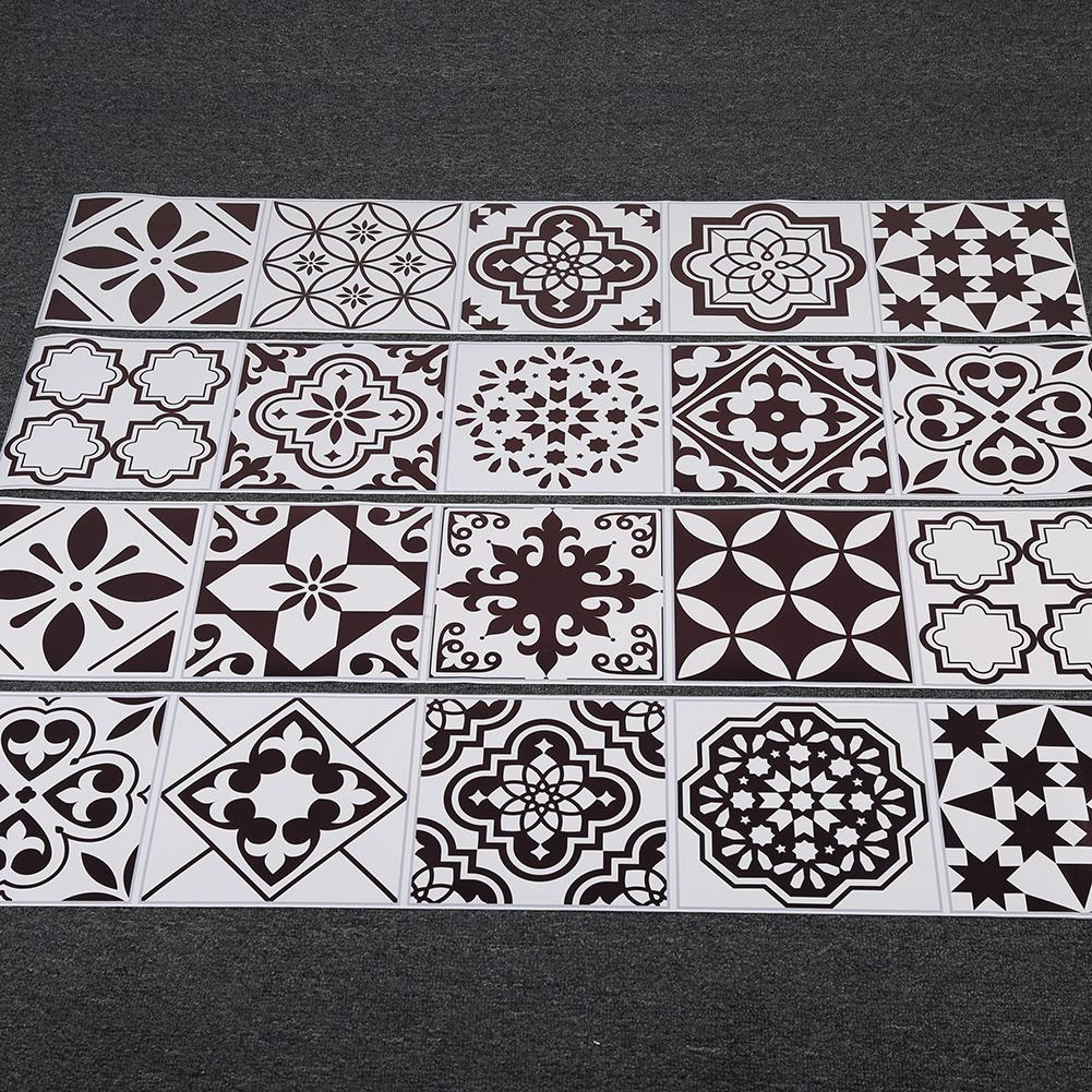 Arabic Style Mosaic Tile Stickers For Living Room Kitchen Retro 3D Waterproof Mural Decal Bathroom Decor DIY Adhesive