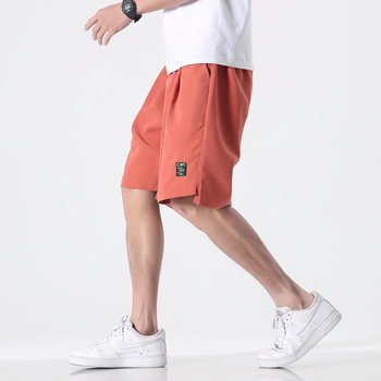 Men Casual Shorts Print Lettering Men's Beach Shorts Breathable Solid Knee Length Side Pocket Loose Shorts Homme Big Size M-8XL lettering waist checked dolphin shorts