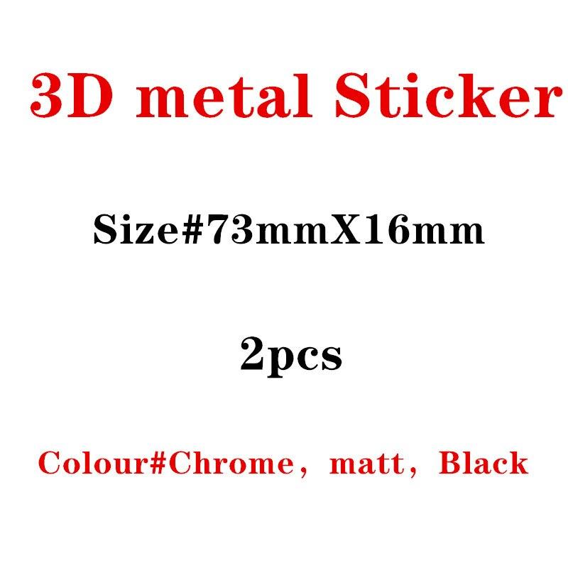 2pcs New Metal Auto Car Chrome Matt Silver Black Badge For Audi S Line Sline A4 S4 RS4 A6 TT A3 Emblem Badge Sticker