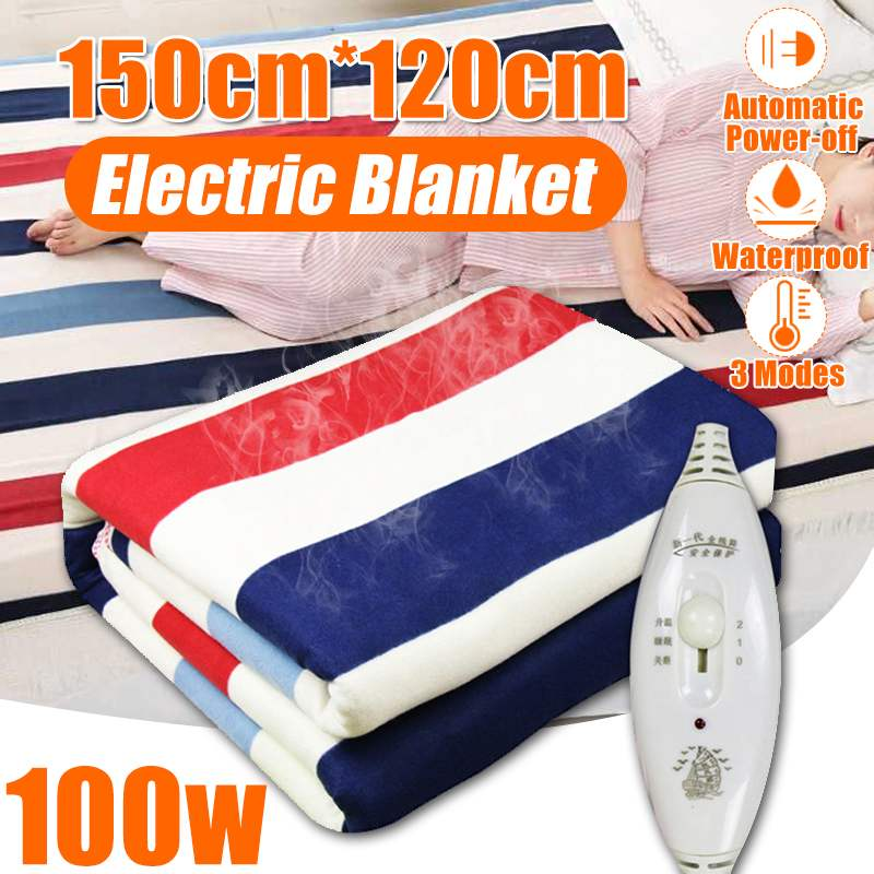 Adjustable Temperature Electric Blanket Heater Double Body Warmer 150x120cm Heated Blanket Thermostat Electric Heating Blanket