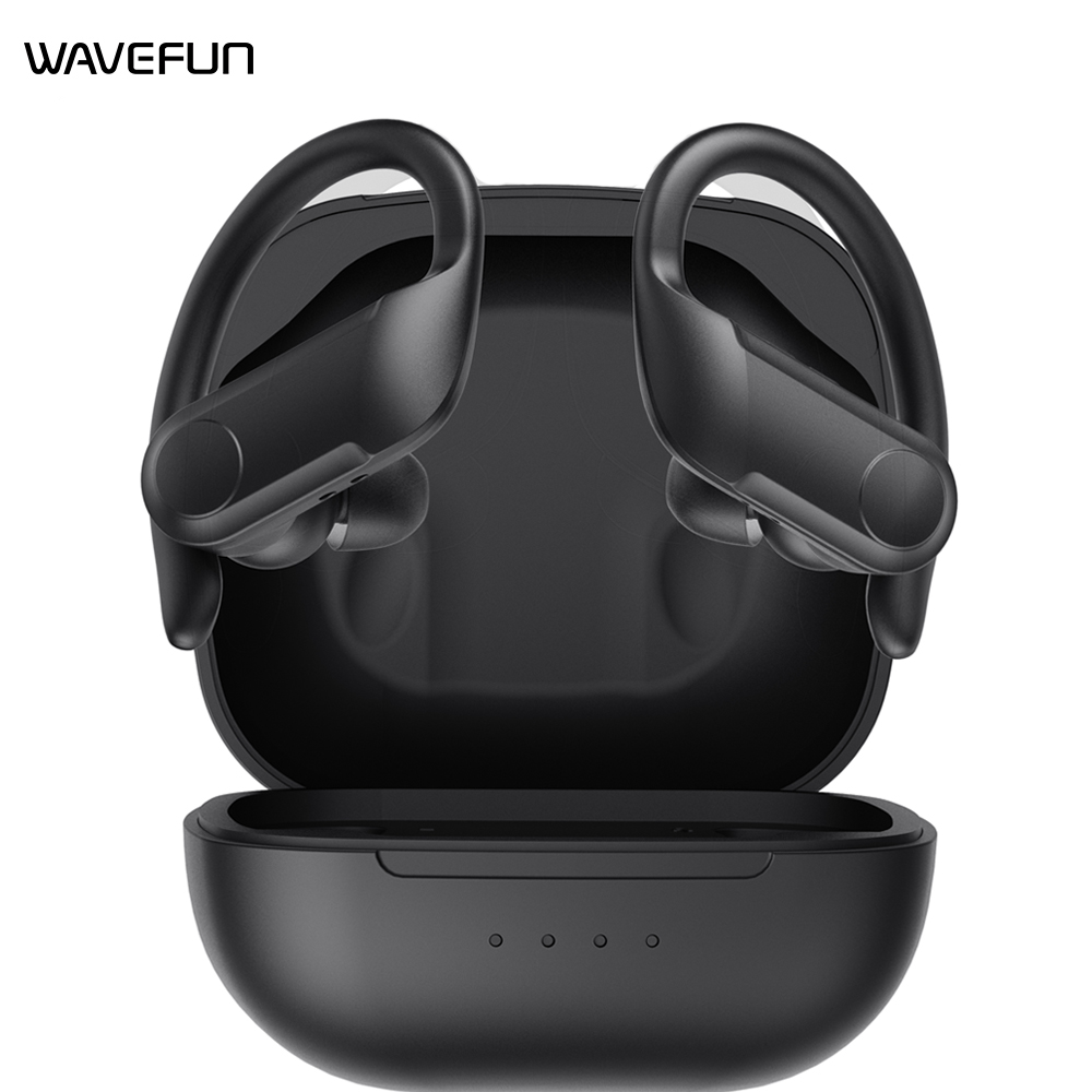 Wavefun XBuds Bluetooth 5.0 Earphone wireless Headphone Volume control waterproof sports Workout earbuds Earhook with Microphone 1