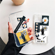 For iPhone 12 Pro Max Mini 11 8 7 6 Plus XS Max XR X SE for iPhone Clear Soft Silicone Phone Case Daisy Flower Phone Case