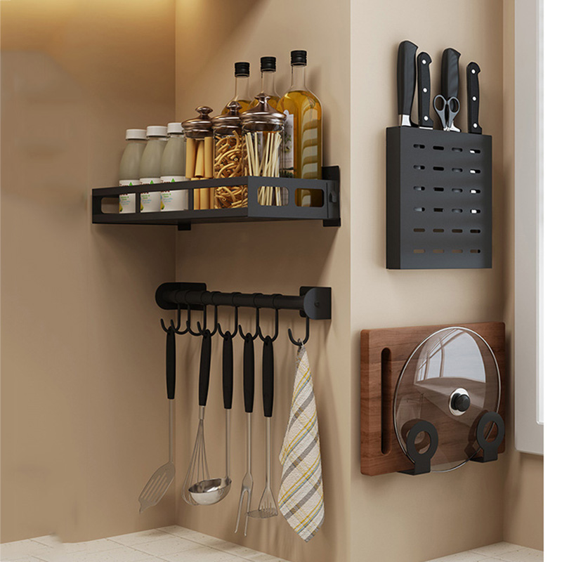 Multi Functional Kitchen Organizer and Wall Storage Shelf for Spice Jar and Kitchen Accessories