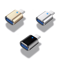 5Gbps Micro Mini USB 3.1 TypeC Male To USB3.0 Type A Female Data OTG Converter Adapter Head With Light For Tablet Hard Disk