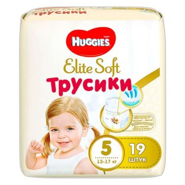 Трусики-подгузники Huggies, Элит Софт 5, 13-17 кг, 19 шт