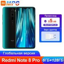Küresel ROM Xiaomi Redmi not 8 Pro 6GB 128GB Smartphone Octa çekirdek MTK Helio G90T 64MP arka kamera 4500mAh 2340x1080 telefon