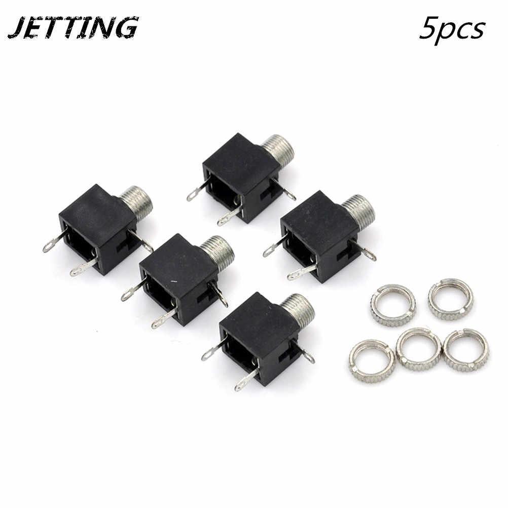 5pcs 3.5mm PCB Female Audio Mount Jack Connector 3 Pin DIP Headphone Jack  Socket Mono Channel Double Track Stereo Socket    - AliExpressAliExpress