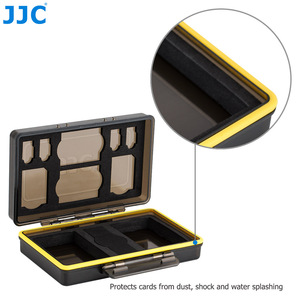 Image 2 - JJC المياه مقاومة المضادة للصدمة كاميرا بطارية حالة مربع ل فوجي فيلم NP W126 NP W126S NP 95 مع فتحات ل SD MSD XQD بطاقة الذاكرة