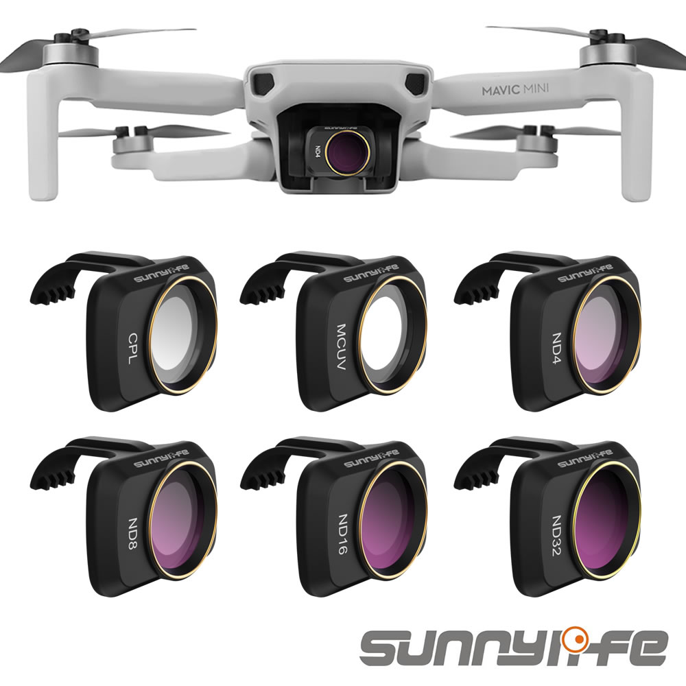 Sunnylife Accessories For DJI Mavic Mini UV CPL Camera Professional Filter ND8 ND16 ND32 ND4 Glass For MAVIC Mini Lens Filter