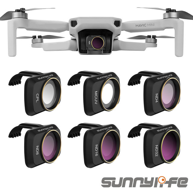 Sunnylife Accessories for DJI Mavic Mini UV CPL Camera Professional Filter ND8 ND16 ND32 ND4 glass for MAVIC Mini Lens Filter