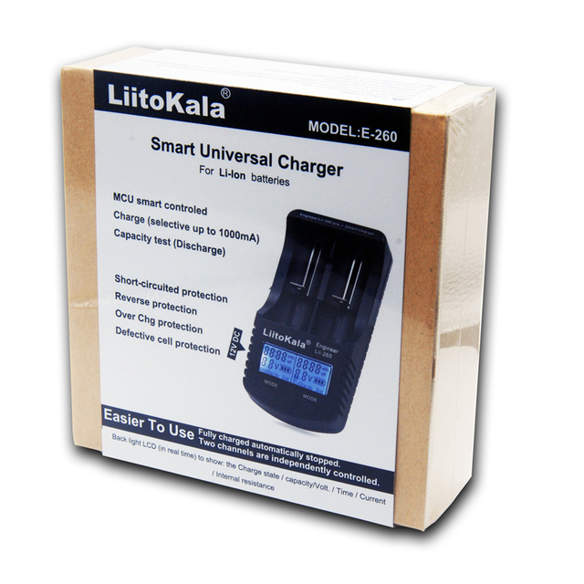 LiitoKala lii 260 LCD 3.7V 18650/26650/16340/14500/10440/18500 Battery Charger with screen