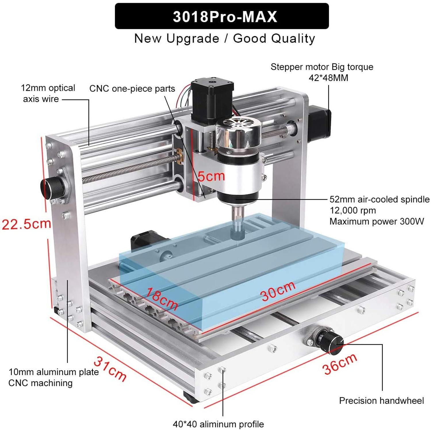 CNC Machine 3 Axis PCB Milling machine With 200W Spindle 2