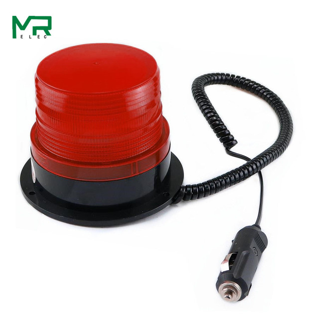 N-5095 12V/24V with cigar lighter Signal Warning light  Rolling  LED Flashing Emergency lights Beacon Lamp with Magnetic Mounted