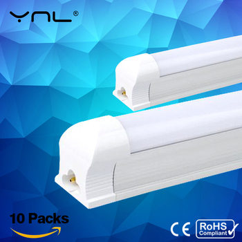 10pcs/lot T8 LED Tube 600mm Integrated LED Tube Light Bulb 10W 220v Cold Warm White Bombillas LED Lamp SMD 2835 Kitchen Lighting t8 led tube bulb light g13 t8 led light tube bulb 120cm 60cm tubo led bulb tube light 18w 12w 10w t8 led tube 1pcs lot