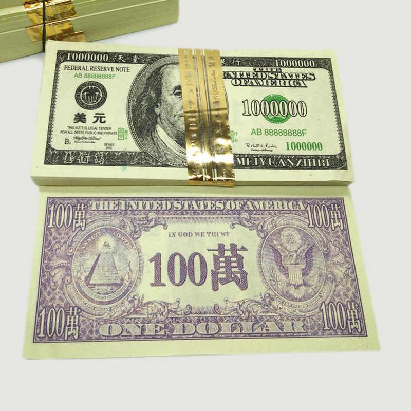 240 Pcs Dolar Satu Juta $100000 Joss Kertas Surga Uang Bank Feng Shui Catatan Nenek Moyang Hantu Neraka Berdoa Perdamaian kesehatan Baik Keberuntungan
