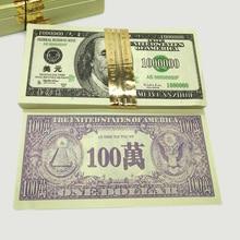 240Pcs $100000 Dollar One Million Joss Paper Heaven Bank Money Notes Ancestor Ghost Hell Feng Shui Pray Peace Health Good Luck
