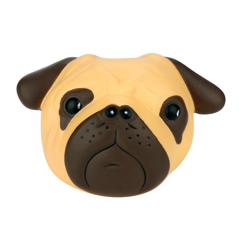 Exquisite Fun Crazy Dog Scented Squishy Charm Slow Rising 8cm Simulation Kid Toy Stress Reliever Refrigerator Windows Decoration