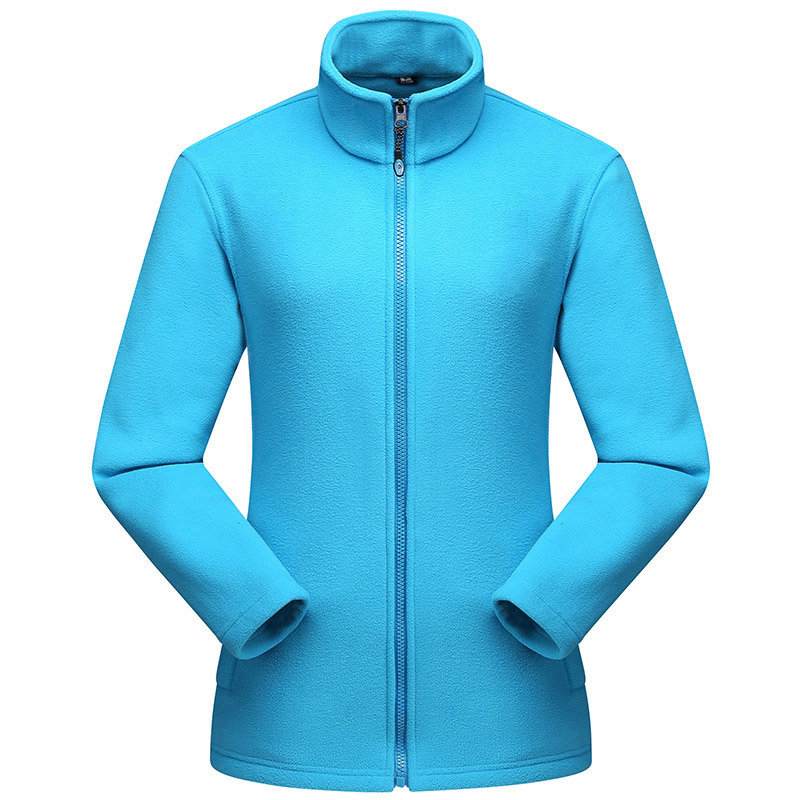 US $17.37 27% OFF|QUESHARK Men Women Polar Fleece Jacket Warm Outdoor Sports Windproof Zipper Coats Trekking Camping Hiking Jackets Plus Size in