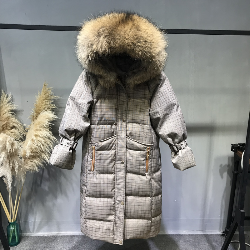Winter Down Coat With Real Fur Hood Women Puffer Long Female Warm Autumn Feather Jacket For Girls Parka Coats Duck Outerwear