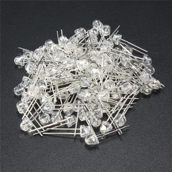 цена на 100Pcs 5mm LED Diode DIY Kit White Yellow Red Blue Green Purple Straw Hat LED Wide Angle Light Emitting Diodes Water Clear