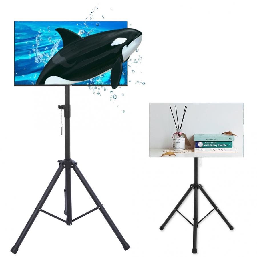 Tripod <font><b>TV</b></font> Holder Portable Floor Stand 110-170cm Height Adjustable Mount for <font><b>26</b></font>