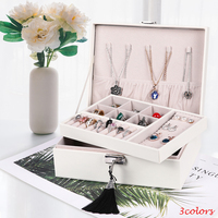 Black White Pink Jewelry Gift Box Packaging Display 3 Colors Lipstick Earring Bracelet Holder Nail Polish Organizer