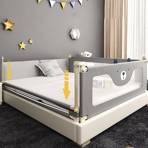 Bed Guardrail Safety Crib Lifting-Bed Playpen Newborn-Fence Adjustable Vertical Baby