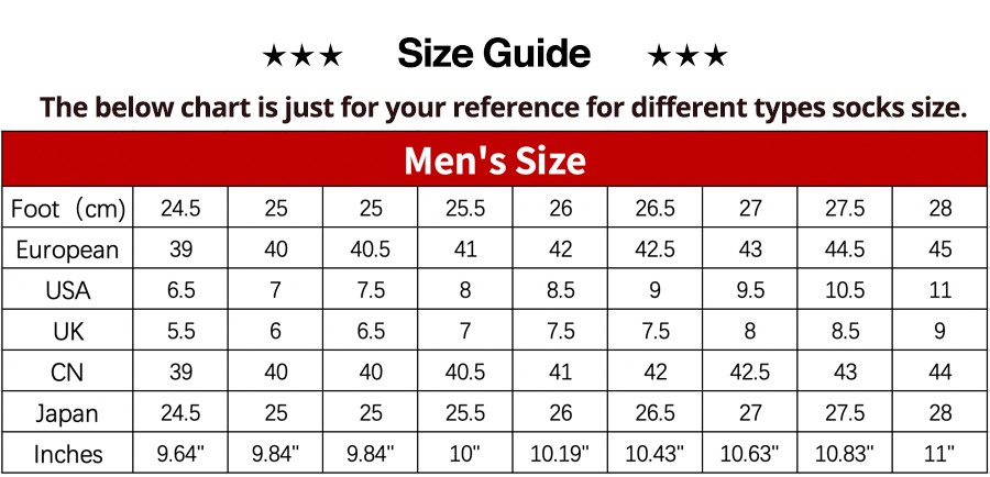 Men Size 1