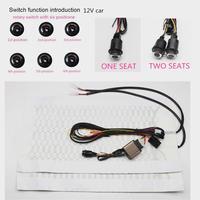 Assentos aquecidos em fibra de carbono do carro assento aquecido almofada + 6 posição interruptor rotativo botão definir assentos interiores capa accessoires quente
