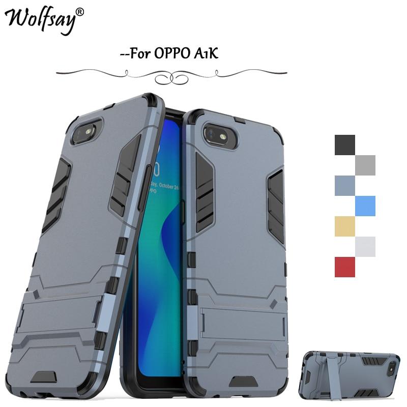 For OPPO A1K Case Shockproof Slim Armor Robot Rubber Hard Back Phone Bumper For OPPO A1K Protection Cover For OPPO A1K Fundas *
