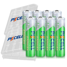8PCS PKCELL AAA Batteries 1.2V Ni MH AAA Rechargeable Battery 3A Low Self Discharge 850mAh batteria with 2PC Battery holder box