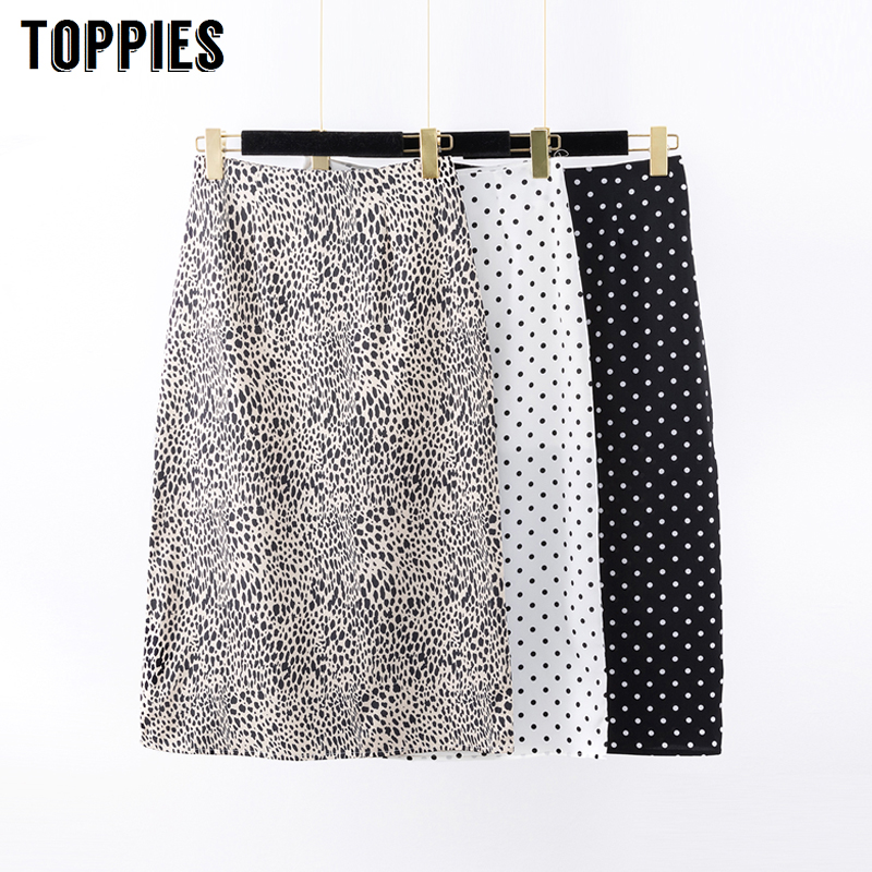 Leopard Print Straight Skirts High Waist Polka Dot Skirts Women Korean 2020 Spring Fashion Streetwear