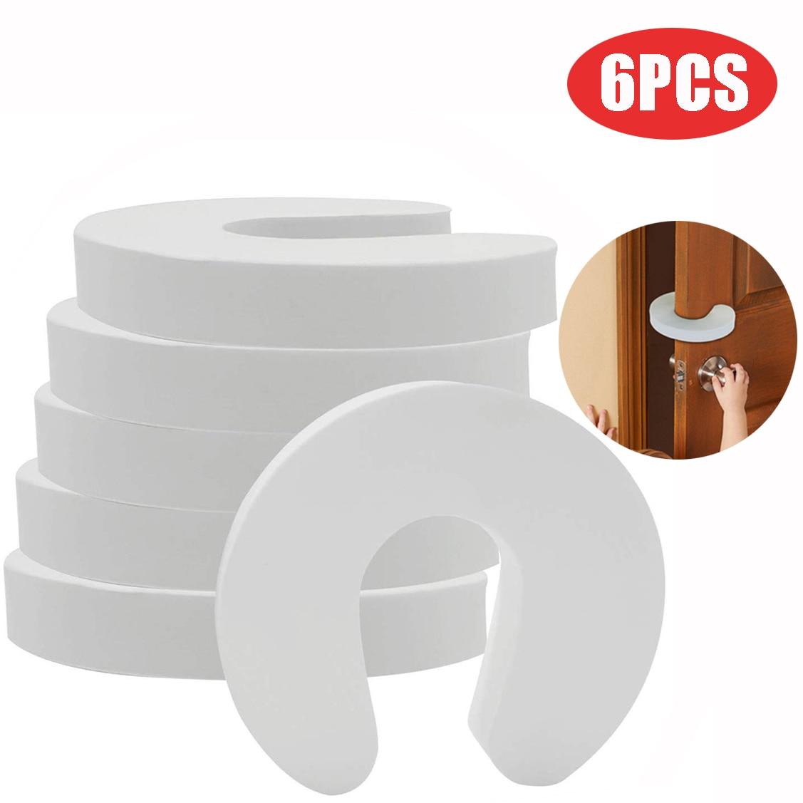 6PCS Doorways Gates Decorative Door Baby Care Soft Reusable C Shaped Door Safety Finger Guards For Cabinet Drawer Door