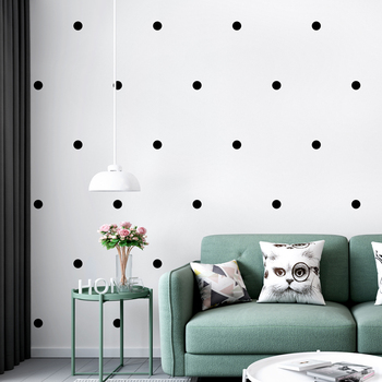 Modern Brief Nordic INS Geometric Pattern  Non Woven Wallpapers Black Point Living Room Bedroom Wallpaper Background