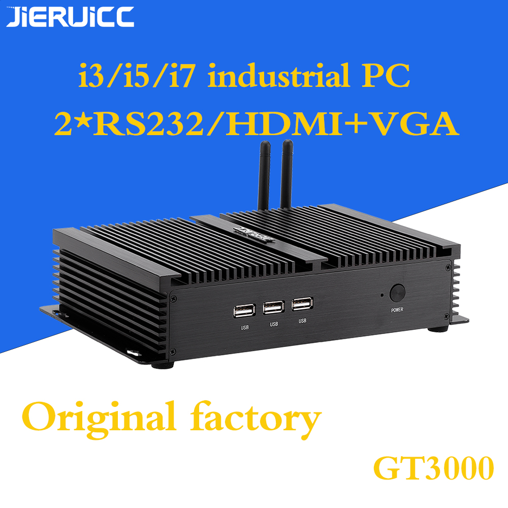 I5 Industrial Mini Pc With 4USB3.0.3USB2.0 HDMI VGA Dual Display 300M Wifi 2*rs232