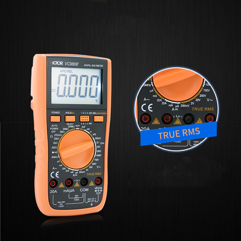 VICTOR 4 1/2 Digital Multimeter VC9806+ Electrical Tools & Home ...