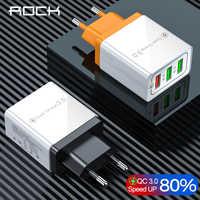 Chargeur rapide QC 3.0 chargeur mural intelligent 3 USB rapide pour Xiaomi Samsung Huawei adaptateur de Charge rapide téléphone portable