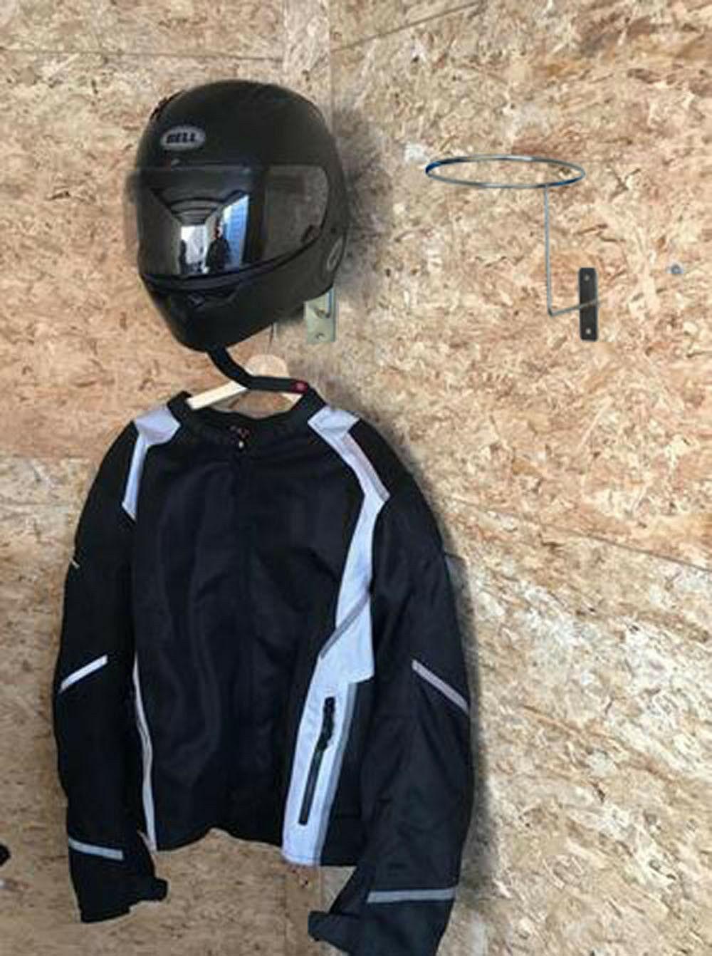 Iron Motorcycle Helmet Holder Hook Rack Storage Wall Mounted Display Hanger PGS